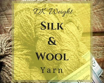 DK weight silk & wool yarn, lightweight yarn, Harrisville Designs