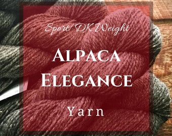 Alpaca Elegance - DK weight alpaca yarn for knitting from Green Mountain Spinnery