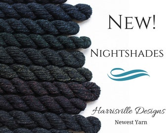 Nightshades - Black DK Weight woolen-spun American Cormo wool yarn