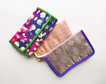 Fabric interchangeable knitting needle case