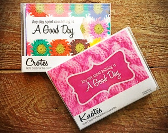 Knitting and Crocheting Notecards - Knotes and Crotes