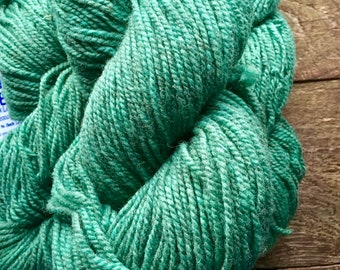Yarn for socks - green worsted weight wool sock yarn - green mix