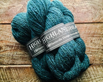 Worsted weight wool yarn - Loden Blue, teal yarn