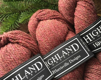Highland worsted weight wool yarns, terra cotta - Adobe Lot #2264