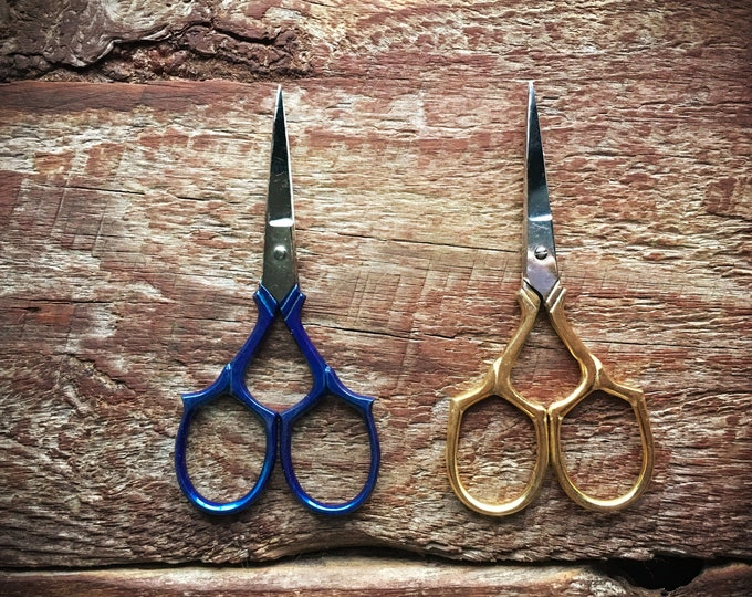 Featured listing image: Epaulette Embroidery Scissors - blue or gold