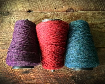 Harrisville Designs Shetland Wool on a cone for weaving - worsted weight, sports weight yarn