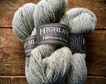 Worsted weight wool yarn - Silver Mist, gray yarn