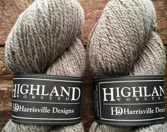 Highland worsted weight wool yarn for knitting or crocheting in Suede colorway
