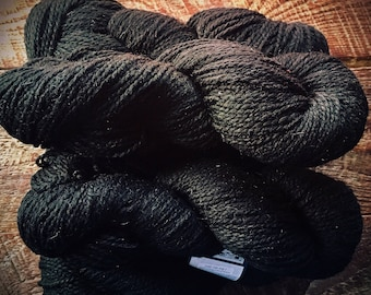 Peace Fleece - Baku Black wool yarn