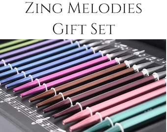 Zing Melodies - Interchangeable Knitting Needle gift set, aluminum 10 year anniversary gift