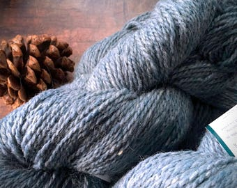 Peace Fleece Volgassippi Blue - worsted weight wool yarn