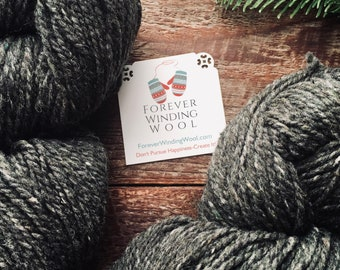Peace Fleece - Fathers Gray Worsted Weight Yarn For Knitting or Felting