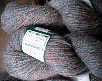 Peace Fleece wool yarn - Mesa Marble, gray knitting yarn