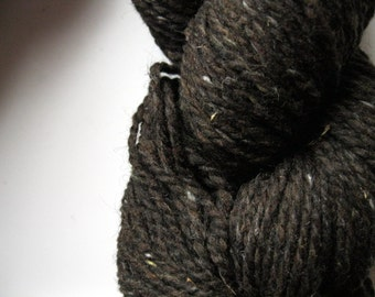 Peace Fleece Brownies with Nuts - brown worsted weight tweed knitting wool