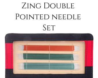 Aluminum double pointed needle set - Zing DPN