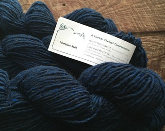 Mountain Mohair dark blue wool yarn - Maritime