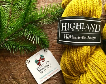 Harrisville Designs Highland worsted weight wool yarn - Goldenrod Lot #2242