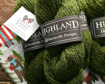 Worsted weight wool yarn - Hemlock, green yarn
