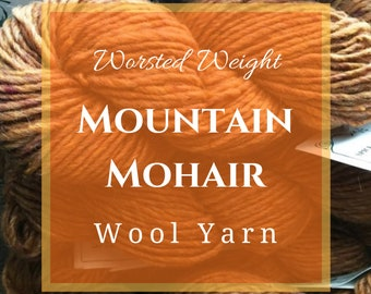 Mountain Mohair worsted weight worsted wool yarn