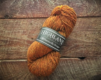 Worsted weight wool yarn - Foliage, orange yarn