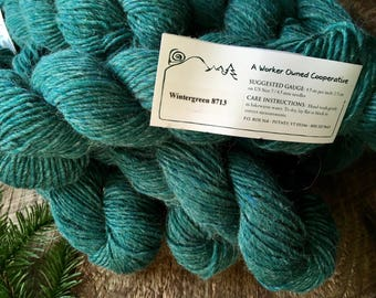 Mountain Mohair - Wintergreen worsted weight wool yarn for knitting or crocheting