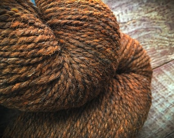Peace Fleece - rustic brown wool yarn