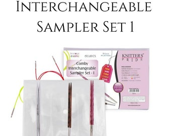 Interchangeable knitting Needle Sampler Sets