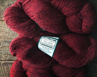 Peace Fleece  -  Amaranth garnet red worsted wool yarn