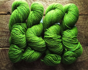 Peace Fleece - Shaba green rustic worsted weight wool knitting yarn