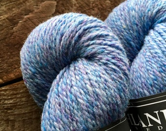 Highland - cornflower blue worsted weight wool yarn for knitting or crocheting