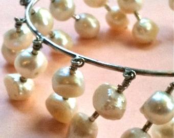 Double Pearl Charm Bracelet