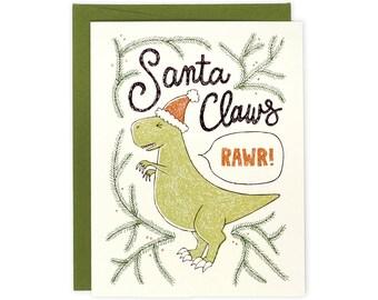 Funny Holiday Card - Santa Claws