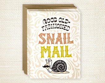 Boxed Card Set of 8 - Old Fashioned Snail Mail