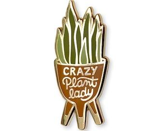 Enamel Pin - Crazy Plant Lady