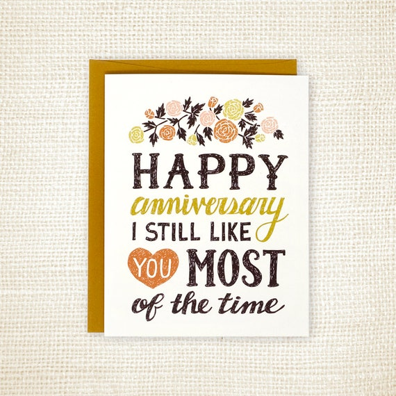 Funny Wedding Anniversary: Anniversary Card Funny Wedding Anniversary Card