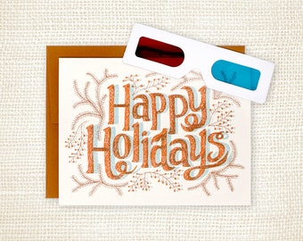 Holiday Card - Happy Holidays 3D