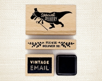 Rubber Stamp Set - Vintage Email