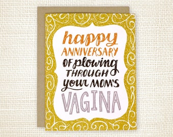 Funny Birthday Card, Birthday Card for Best Friend - Your Mom's Vagina