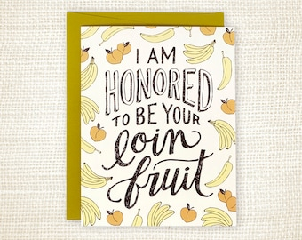 Funny Father's Day Card, Mother's Day Card  - Loin Fruit
