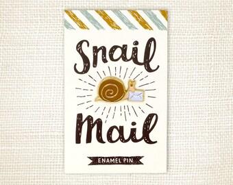 Enamel Pin, Mail Gift - Snail Mail