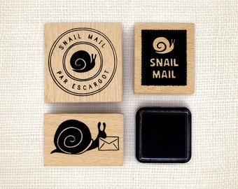 Rubber Stamp Set - Snail Mail