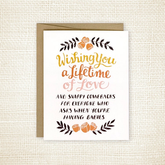Wedding Card Wishes.Funny Wedding Card Funny Wedding Card For Friends Wedding Etsy