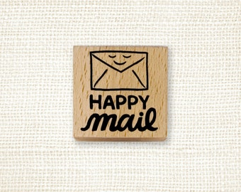 Rubber Stamp - Happy Mail