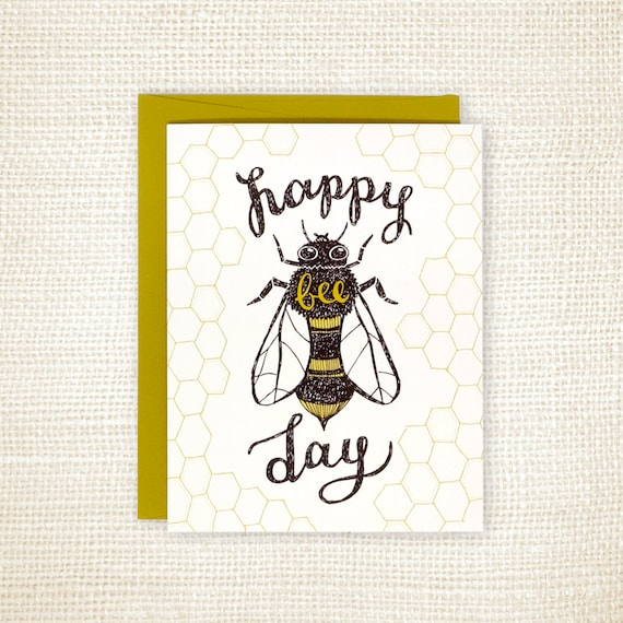 Birthday Card Bee Day