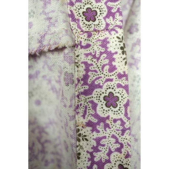 Antique 1800s Wrapper Dress Calico Floral Print P… - image 9
