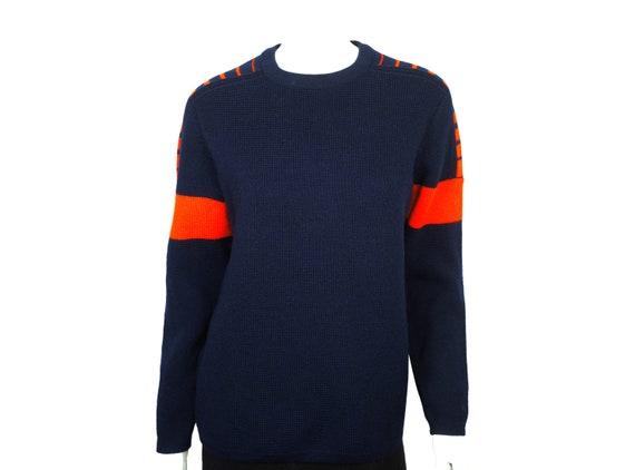 Vintage 60s White Stag Ski Sweater Navy w Red Unis
