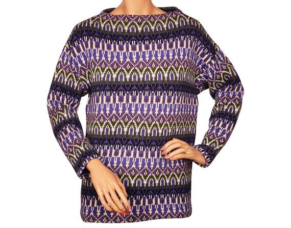 1960s Austrian Ski Sweater Multicolour Pattern Mad