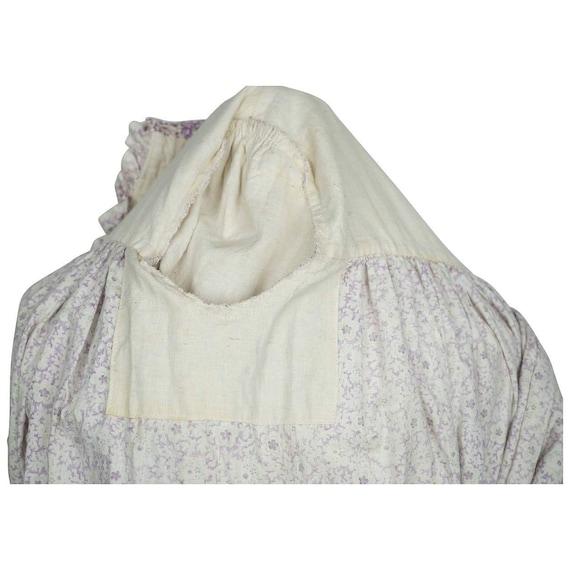 Antique 1800s Wrapper Dress Calico Floral Print P… - image 8