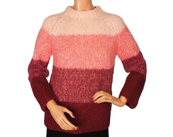 Vintage 1960s Mohair Wool Pullover Sweater - Made in Italy - Ladies  M