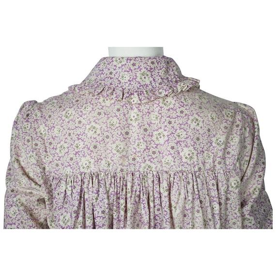 Antique 1800s Wrapper Dress Calico Floral Print P… - image 7